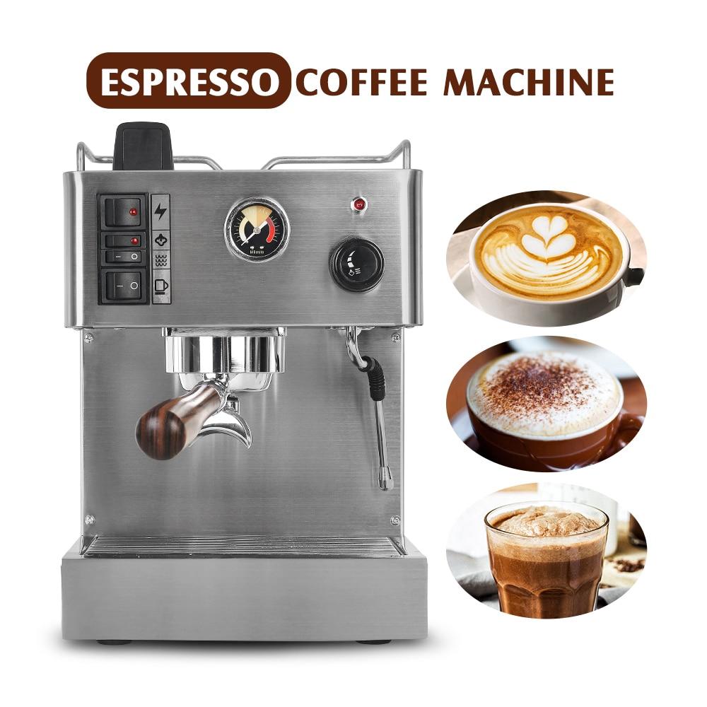 ITOP 1050W Semi-automatic Espresso Coffee Maker Machine 3.5L Stainless Steel Coffee Machine Semi-commercial Italian Coffee Maker