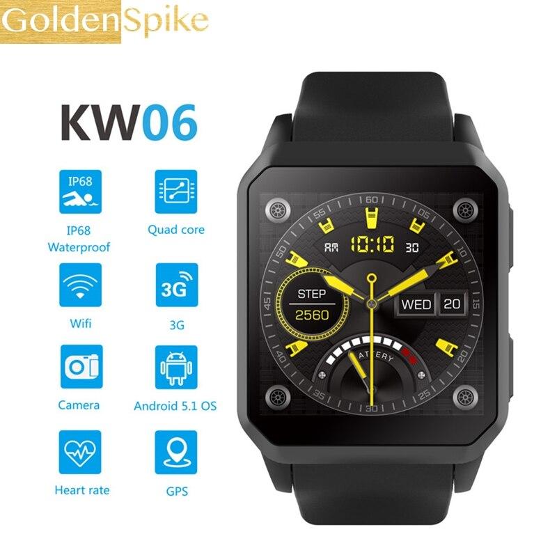 Najlepsze KW06 smart watch 1.54 Cal MTK6580 Quad Core 1.3GHZ z systemem Android 5.1 3G smart watch 460mAh 0.3 Mega pikseli, monitor pracy serca w Inteligentne zegarki od Elektronika użytkowa na AliExpress - 11.11_Double 11Singles' Day 1