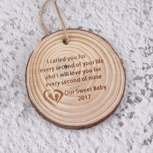 Personalized-Ornaments Custom Pendant Wood for Babys Gifts Footprints Engraved-Our Date