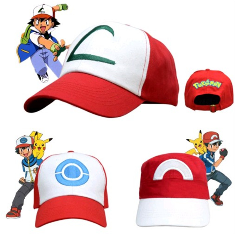 2020 New Anime Child's Gift Pocket Monster Cosplay Embroidery Costumes Hats Pokemon Cap Ash Ketchum Clothing Accessories Elf Hat