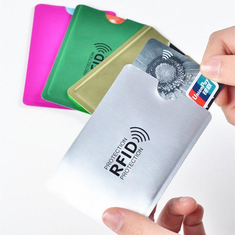 Anti RFID Wallet Blocking Reader Bank Card Holder ID Credit Card Case Protection Metal Credit Card Holder Aluminium