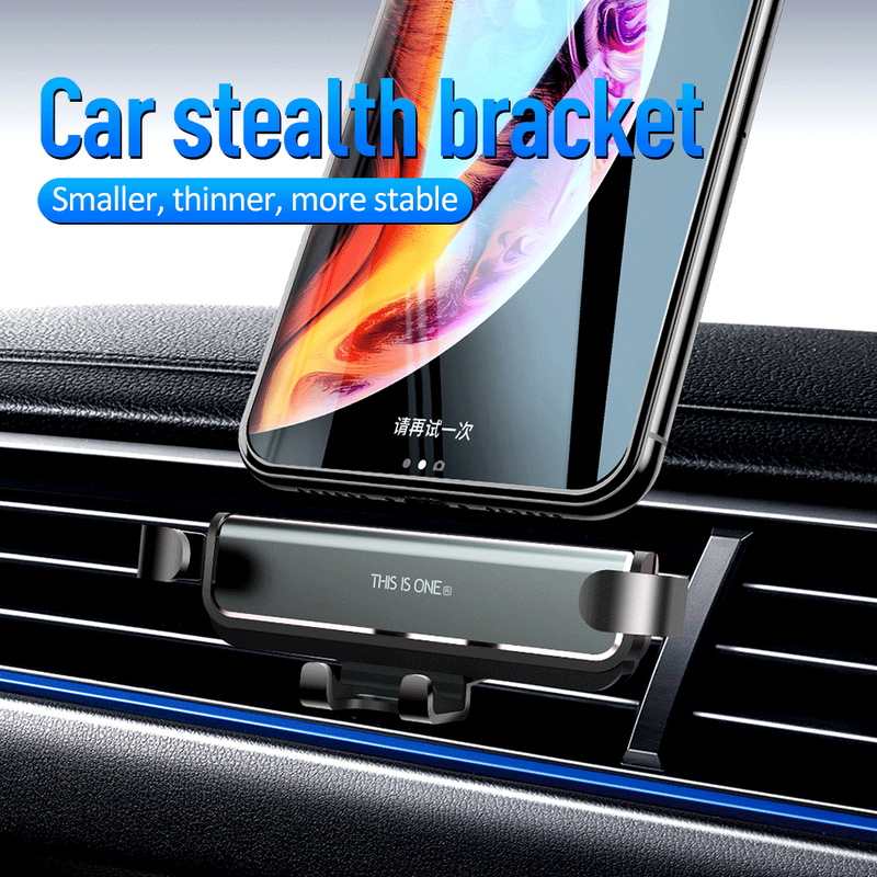 Newest Gravity Car Phone Holder For IPhone Xs X 11 Universal Air Vent Mount Support Smartphone Mobile Phone Car Holder Stand