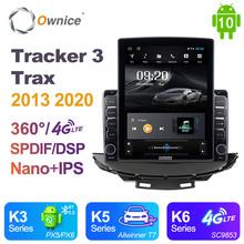 Nano pionowe Ownice Android 10 0 Radio samochodowe 2din dla Chevrolet Tracker 3 Trax 2013 2020 samochodów Auto Audio wideo jednostki systemowej SPDIF tanie tanio CN (pochodzenie) Double Din 9 7 4*45W 128G Jpeg 1G 2G 4G 1024*768 Bluetooth Wbudowany gps Ładowarka Nadajnik fm Telefon komórkowy