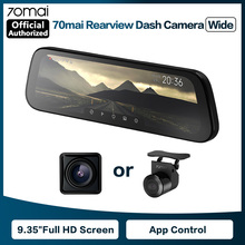 70maiバックミラーカメラワイド9.35インチのフルスクリーンストリームメディアダッシュカムwifi 1080 1080p 70舞車dvrリアビューカメラ