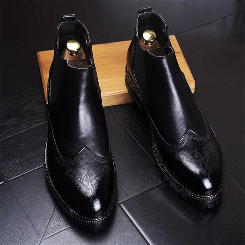 Erkek Kışlık Botlar Erkek Deri Bot Güvenlik Ayakkabıları Yeni Sıcak Erkek Botları Tutmak iş ayakkabısı Moda Chelsea Çizmeler Sonbahar Kış erkek ayakkabısı