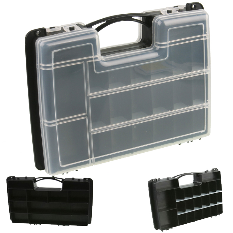 27x20x7cm Parts Storage Tool Box Plastic Compartment With Cover Hardware Tool Box Combination Classification Screw Box