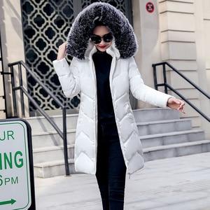 Image 1 - 2019 veste dhiver femmes épais neige porter hiver manteau dame vêtements femmes vestes Parkas