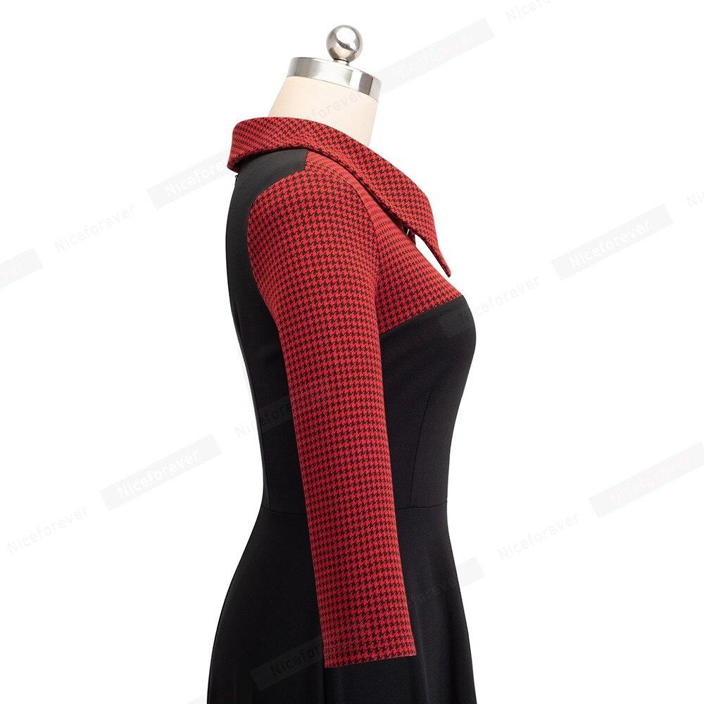 Image 4 - Mulher vintage ajuste e alargamento swing skater trabalho escritório de negócios festa vestido casual ha136Vestidos   -