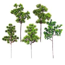 1pc plástico falso artificial pinho cypress planta bonsai jardim decoração de escritório em casa