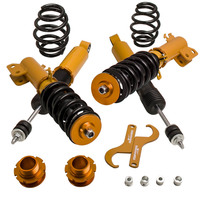 CoilOver Shock Struts Kit for Toyota Yaris 07-14 코일 오버 서스펜션 Adj 높이 충격 흡수기 댐퍼 링 코일 스프링 세트