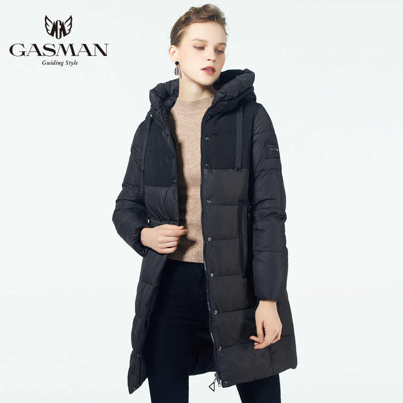 GASMAN 2019 Women 'S warm Thick jacket female down coat Medium-long winter parka women outerwear New collection