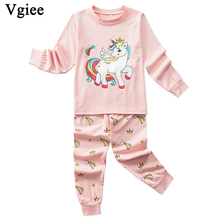 Vgiee Children Boys Girls Clothes Fall Winter Full Cotton Unisex Crtoon Pattern for Unicorn Baby Kids Girl Set CC637