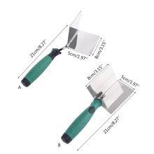 Drywall Inside & Outside Corner Tool Flexes 90 degree Corner Mudding Finish Tool 35ED