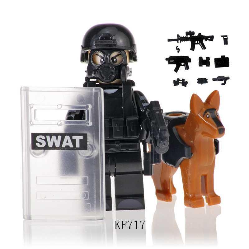 Blocchi militari Soldati Delle Forze Speciali Commando Action Figures Building Block Modello Compatibile Con Arma Pistole Armi Swat Giocattoli