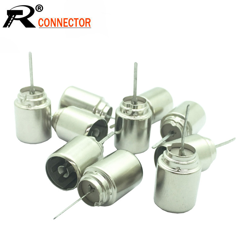 10pcs/lot Metal TV Female Coaxial Coax RF Adapter Connectors DVB-T TV PAL Female Plug Jack Socket Soldering Wire Connector