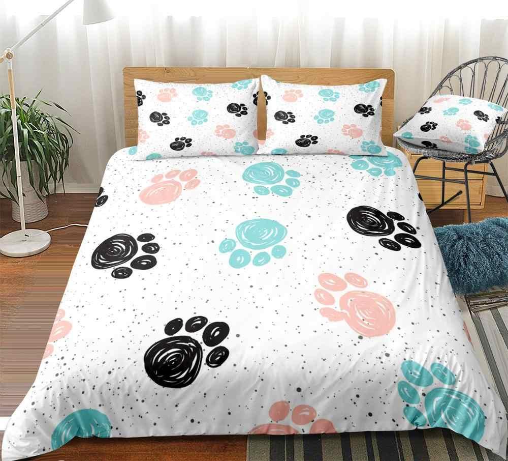 dog print sheet set