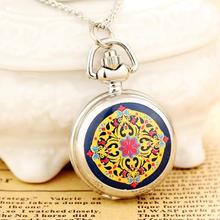 2020New моды для мужчин и женщин серебряные карманные часы кварцевый нержавеющая сталь стимпанк старинная печатная RelogioFeminino