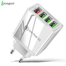 Cargador USB de carga rápida para móvil, cargador de pared rápido 3,0 para iPhone XR X 7 8 Huawei P20 Tablet QC 3,0, adaptador de enchufe europeo para Samsung A50 A30