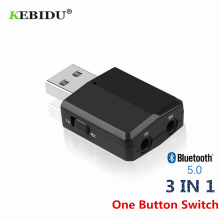 KEBIDU Bluetooth V5.0 Transmitter Receiver Mini 3.5mm AUX Stereo Wireless Bluetooth Adapter For Car Music For TV Newest