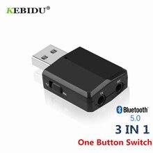 KEBIDU Bluetooth V5.0 nadajnik odbiornik Mini 3.5mm AUX Stereo bezprzewodowy adapter Bluetooth do muzyki samochodowej do telewizora najnowszy