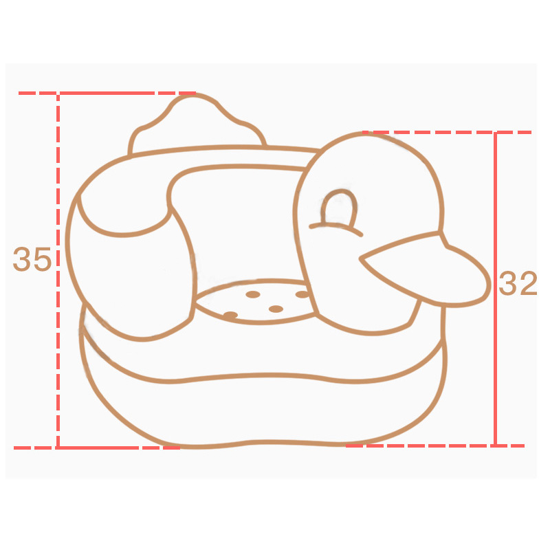 Multifunctional Inflatable Duck Toys Eco-friendly Wear-resistant Ergonomic Baby Toy Hot Sales