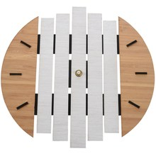 Xylophone Wooden Wall Clock Modern Design Vintage Rustic Shabby Clock Quiet Art Watch Home Decoration(China)