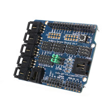 ABKT-For Arduino UNO MEGA Duemilanove Sensor Shield V4 Digital Analog Module Servo Motor(China)