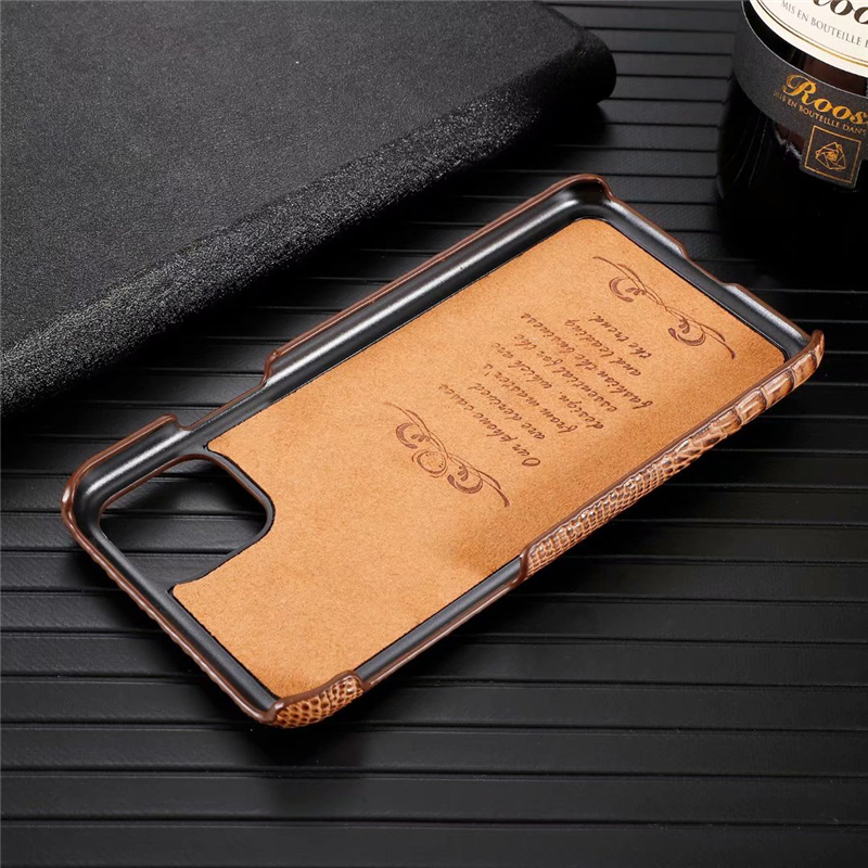 Genuine Leather Cow Hide Stereoscopic 3D Case for iPhone 11/11 Pro/11 Pro Max 3