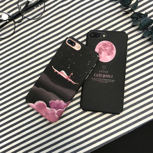 Girl Heart Pink Star Pink Phone Case for iPhone X XS 8 7 6 6S PluS XR XSmax Cloud Aircraft Hard Shell Drop Protection Cover