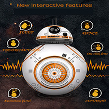Schnelle Verschiffen Intelligente Star Wars Upgrade RC BB8 Roboter Mit Sound Action Figure Geschenk Spielzeug BB-8 Ball Roboter star wars bb 8 rc robot star wars bb 8 2 4g remote control bb8 figure robot action robot sound intelligent toys car for children
