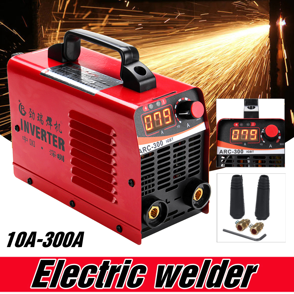 IGBT ARC 10-300A Welder Inverter Welding Machine IGBT MMA ARC ZX7 Welding Machine Easy Weld Electrode Arc Welder