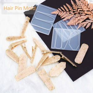 Irregular New Chic Hair Pin Mold Uv Resin Jewelry Supplies Jewelry Making Make Your Own Hairpin Hair Clip UV Resin Mold(China)