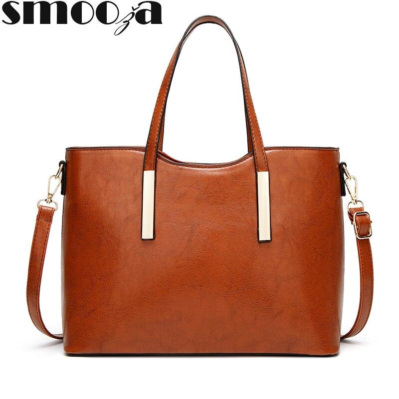 Женские сумки SMOOZA, новинка 2020, модные женские сумки через плечо на одно плечо, вместительные однотонные сумки высокого качества