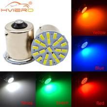 Lampe de stationnement de voiture blanche, clignotant, lampe de stationnement, lumière de secours automatique à LED, plaque d'immatriculation arrière, ampoule, 1156 BA15S 1157 BAY15D P21W 22SMD