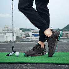 Footwear Golf-Sneakers Mens New Gray Green Professional Breathable for Big-Size 36-47
