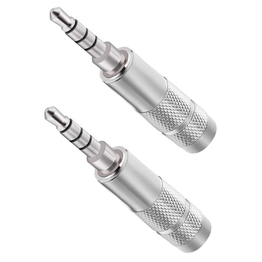 3.5 millimetri 4-sezione 4-strato rhodium placcato febbre di grado 3.5 4POLE FAI DA TE hifiman equilibrato auricolare spina aggiornamento connettore con microfono