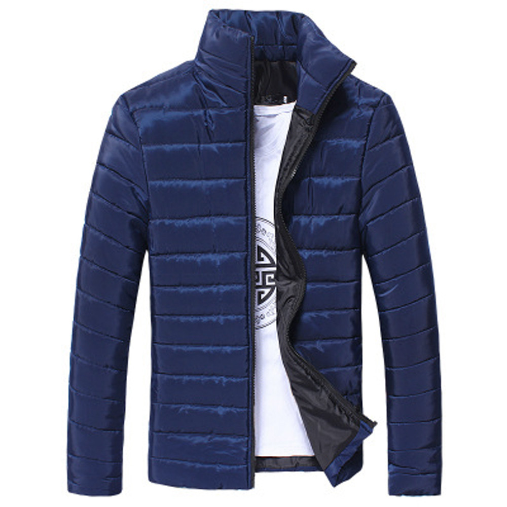 WOMAIL 2019 Fashion Zipper Long Sleeve Mens Casual Jackets Autumn Winter Coat Jacket  Pure Color High Quality Jacket Cotton