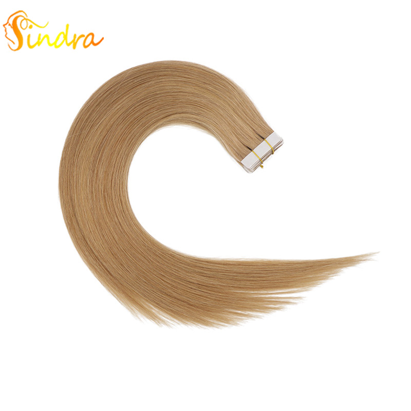 Sindra Skin Weft Tape In Human Hair Extensions 40 Pcs 20 Pcs Straight Hair Adhesives Invisible Tape In Remy Hair
