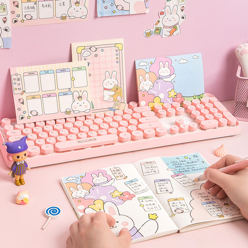 30PCS/Set NEW Kawaii Memo Pads Cartoon Rabbit Weekly Planner Decor DIY Notepad TO DO LIST Cute Paper Sheet Note Pad Stationary