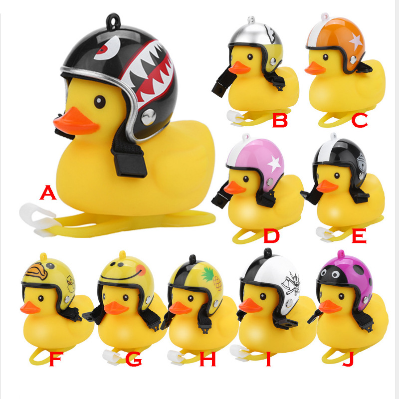 Yellow Duckling Helmet for Bicycle Motorcycle Cycling Moto Wind Cartoon Small Ring Cycle Duck Kids Bike Bell Light in Bicycle Bell from Sports Entertainment