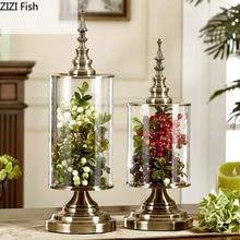 decoración jarrón cristal RETRO VINTAGE