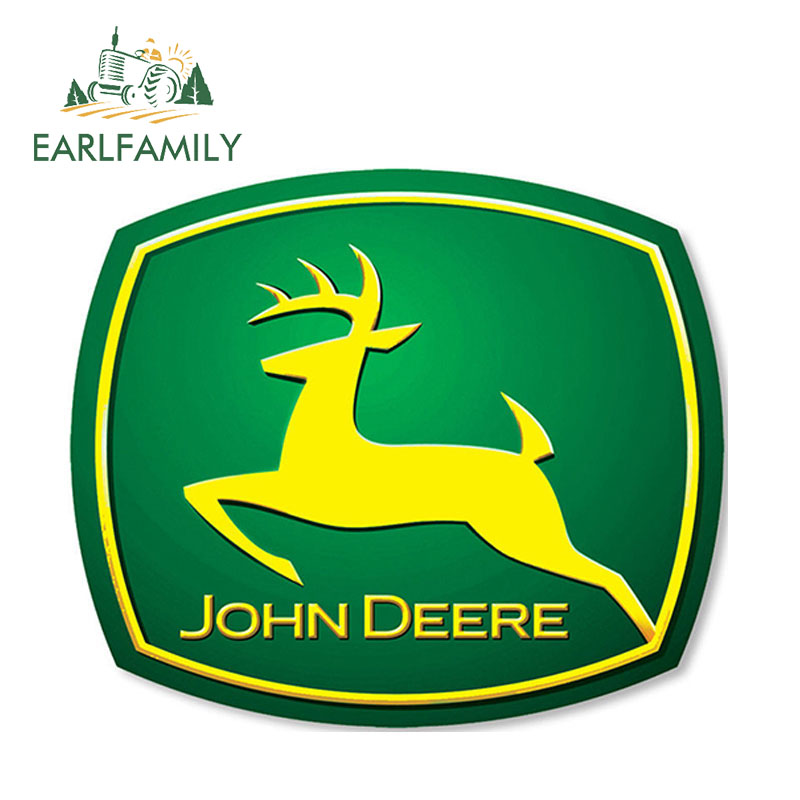 EARLFAMILY 13cm X 11cm Vinyl Stickers For JOHN DEERE Farm Tractor Gator AUTO MOTO Car Skate Tuning B 39 Decal Gas Fuel Tank Cap