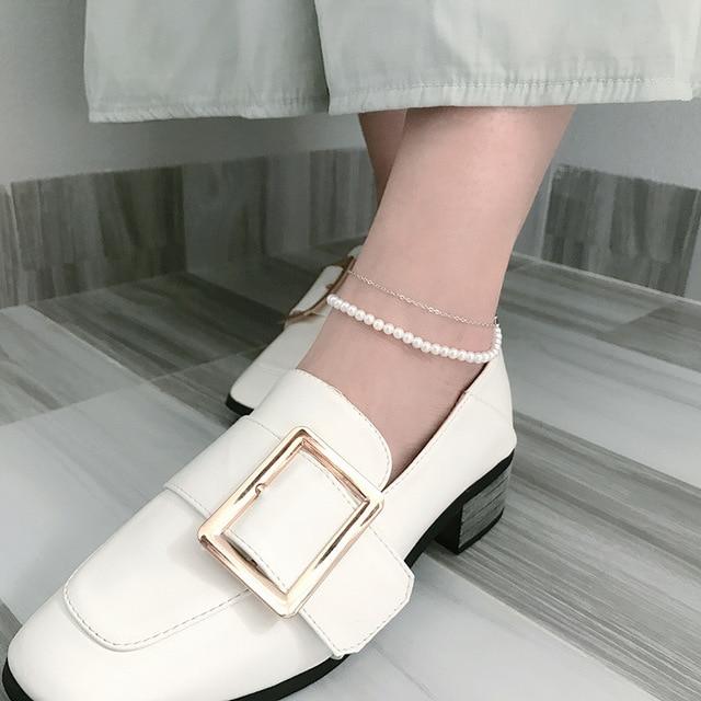 Фото leouerry 925 пробы серебряные браслеты для ног женщин простой