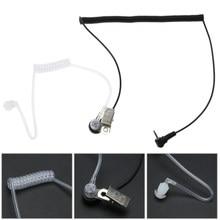 Cavi per auricolari per cuffie con tubo d'aria 1 PIN 2.5mm auricolare per tubo acustico nascosto auricolare per radio Motorola a 2 vie