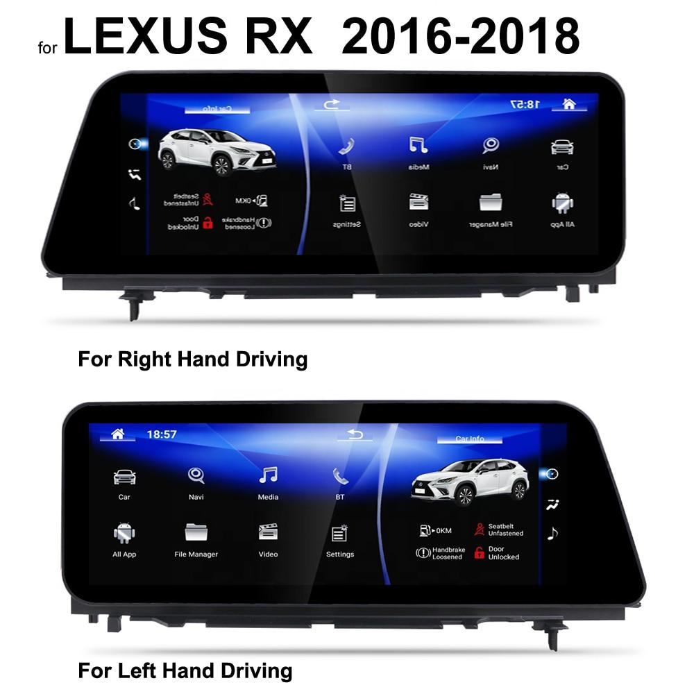 """12.3 """"écran radio intelligent Android 9.0 GPS pour Lexus RX RX200, RX350, RX450, RX200T, RX400H, RX450H voiture bluetooth Navigation multimédia"""