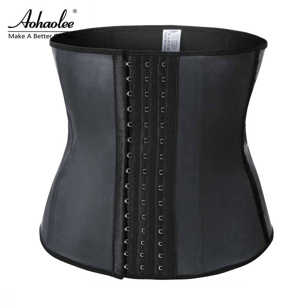 Aohaolee Latex Trainer Corsets Shapers Tummy Slimming Sheath Belts Latex Waist Cincher Lady Girdles Fajas Shaper Drop Shipping