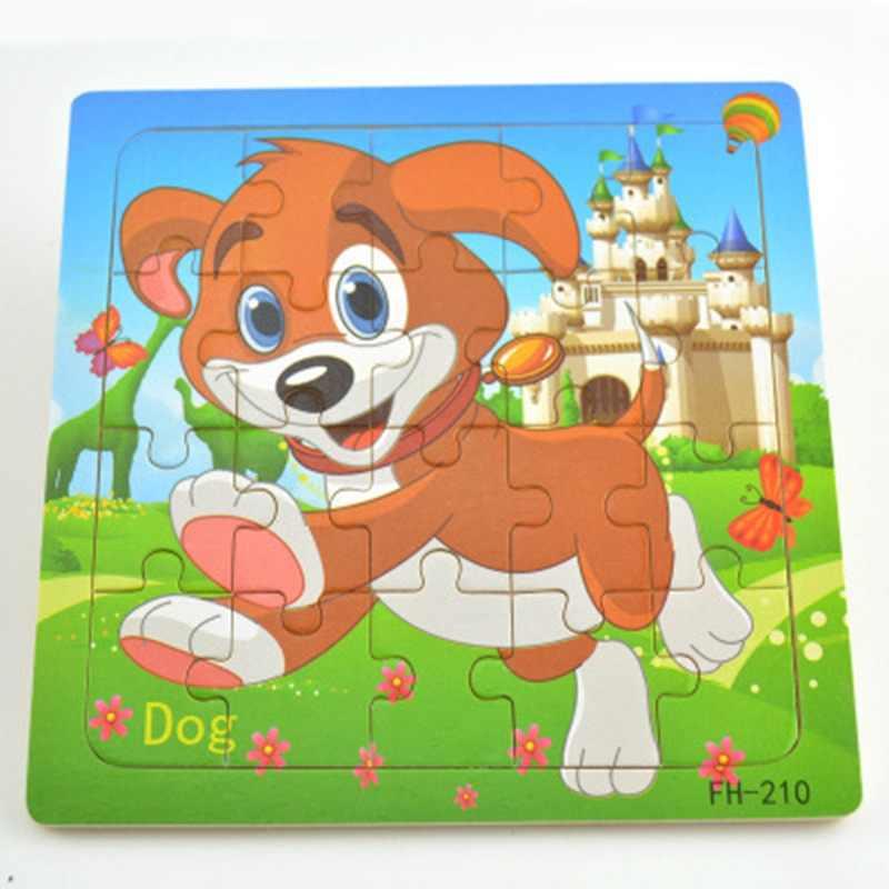 חדש חינוך ולמידה חידות כלב עץ פאזל צעצועי קלאסי חידות לילדים ילדים שיפור ילדי של יצירתיות צעצועים