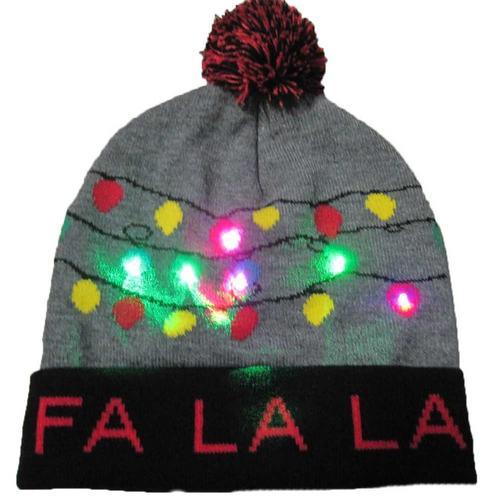 Г., 43 дизайна, светодиодный Рождественский головной убор, Шапка-бини, Рождественский Санта-светильник, вязаная шапка для детей и взрослых, для рождественской вечеринки - Цвет: 18