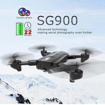SG900 Wifi Dual Camera RC Drone HD Camera Drone Foldable Gesture 2.4G 4CH Camera Control Drone Photo Video Long Flight Time