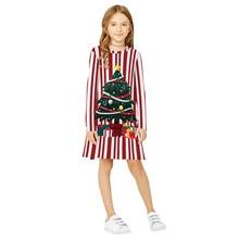 Baby Girl Christmas Dress Teen Kids Girl Long Sleeve